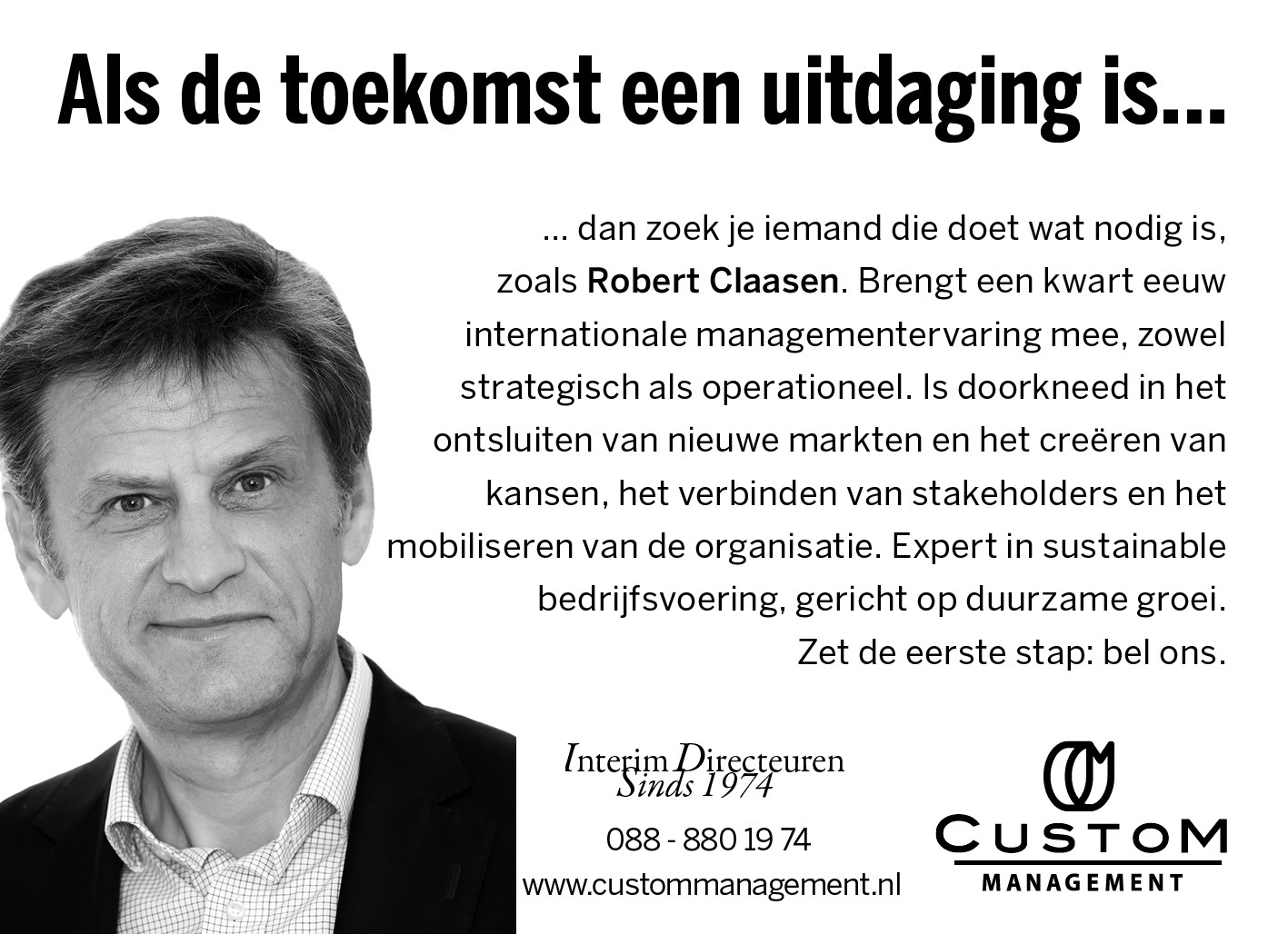 Robert Claasen Custom Management FD 2019